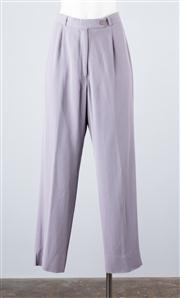 Sale 8685F - Lot 69 - A pair of John Meyer lilac wool-rayon blend corporate trousers, size US 4