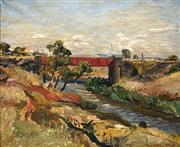 Sale 8692 - Lot 549 - Harold Vike (1906 - 1987) - Little River, You Yangs, VIC, 1952 74.5 x 89.5cm