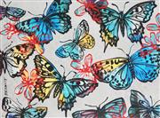 Sale 8867A - Lot 5053 - David Bromley (1964 - ) - Butterflies 97 x 115cm