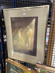 Sale 8924 - Lot 2098 - William Offord - The Union Checks its Members 1977 watercolour, 58.5 x 45 cm (frame), signed and dated lower right -