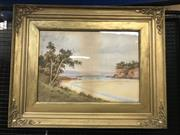 Sale 9024 - Lot 2007 - Gladstone Eyre A Litte Bay watercolour, 70 x 88cm (frame), signed lower left