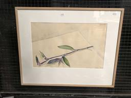 Sale 9176 - Lot 2108 - B Foster Still Life, 1983 watercolour, frame: 60 x 75 cm, signed and dated lower right