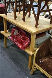 Sale 8013 - Lot 1281 - Pair Of Pine Coffee Tables