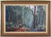 Sale 8334 - Lot 536 - Kevin Best (1932 - 2012) - Road to Banda, NSW 49 x 75cm