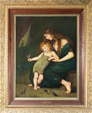 Sale 8338A - Lot 41 - G Flew? - Mother & Child 95x 65cm