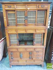 Sale 8428 - Lot 1099 - Japanese Camphor Tansu, with eight sliding door & five drawers