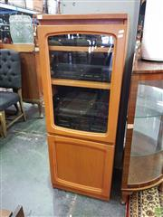 Sale 8566 - Lot 1320 - Small Teak Cabinet with Hi Fi