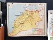 Sale 8625 - Lot 1079 - Vintage Cardboard Backed Double Faced Map of Morocco (120 x 100cm)