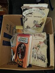 Sale 8659 - Lot 2355 - Box of Various Books incl. Routledge, H. Everest 1933, pub. Hodder & Stoughton, 1938; Armstrong, A. We Like the Country, pub. Co...