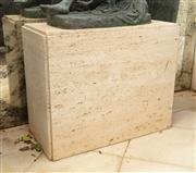 Sale 8838H - Lot 13 - A travertine effect support base. Height 62 x Width 76 x Depth 38cm