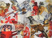 Sale 8867A - Lot 5051 - David Bromley (1964 - ) - Birds 55 x 74.5cm