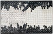 Sale 8973 - Lot 2065 - Ian Thomas Untitled (diptych) mixed media on plywood, 78 x 124cm (frame), signed verso -