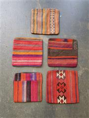 Sale 9026 - Lot 1023 - Collection of 5 Hand Knotted Pure Wool Persian Kilim Cushions (40 x 40cm)