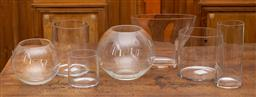 Sale 9160H - Lot 27 - A group of seven contemporary glass vases, tallest Height 25cm