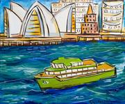 Sale 7968B - Lot 68 - Pasquale Giardino, Ferry and Opera House, oil on canvas