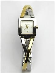 Sale 8196F - Lot 327 - A PIERRE CARDIN LADYS WRISTWATCH; ref. 4995 with square white dial with centre seconds with four baton markers on a quartz movement...