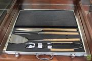 Sale 8217 - Lot 193 - Laguiole by Louis Thiers Set of 4 BBQ Tools in Aluminium Carry Case