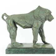 Sale 8226 - Lot 24 - Bronze Figure of a Baboon on a Marble Base
