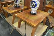 Sale 8331 - Lot 1373 - Pair of Timber Side Tables
