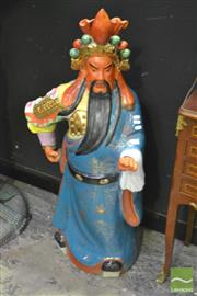 Sale 8368 - Lot 1010 - Glazed Ceramic Oriental Figure
