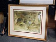 Sale 8682 - Lot 2046 - William Russell Flint - Spanish Women in Bath House, decorative print, 68 x 81cm (frame) signed lower right