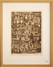 Sale 8734A - Lot 95 - Frank Marjason - Community Art Centre, 1991 52 x 41cm (frame size)