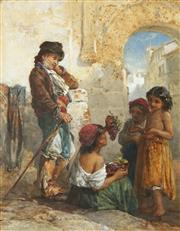 Sale 8813 - Lot 556 - Francis William Topham (1808 - 1877) - Untitled (Grapeseller), 1867 38.5 x 30cm