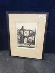 Sale 8969 - Lot 2033 - A C19th Etching of a Scottish Town by William Renison, 54