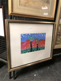 Sale 9172 - Lot 2041 - Artist Unknown (W.T.S  Red Centre - Good Boys, 1986 acrylic on board frame: 50 x 60 cm, initialled and dated lower right
