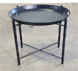 Sale 9188 - Lot 1383 - French side table with removeable tray (h55 x d60cm)