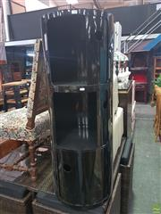 Sale 8643 - Lot 1187 - A Componibili style three module cabinet in black, height 112cm - as new