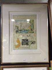 Sale 8648B - Lot 2042 - Michael Eiseman - Outskirts of Village, lithograph, ed. 79/300, frame: 66 x 52cm, signed lower right