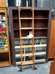 Sale 8741 - Lot 1095 - Vintage Rolling Library Ladder