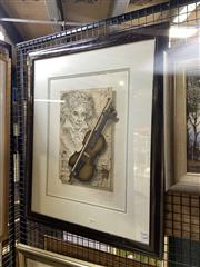 Sale 8910 - Lot 2050 - Udo Nolte - Beethoven (Art for Music Lovers exhibition) colour etching, signed