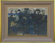 Sale 8940J - Lot 8 - John Olsen (1928 - ), Spring, Cottles Bridge 1969, gouache and watercolour on card on board, 48x69cm, signed and dated 69 lower rig...