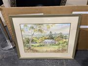Sale 9045 - Lot 2037 - Nerryl Roper - Bathurst Farm House, watercolour, SLR -