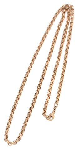 Sale 9099 - Lot 140 - A 9ct yellow gold round link neck chain. Weight: 12.2 grams , total length 60cm