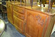 Sale 8093 - Lot 1364 - Marquetry Top French Farmhouse Style Sideboard