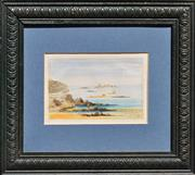Sale 8134A - Lot 8 - George Podmore (1829 - 1916) - Dinard From Hotel Balcony, France, 1870 14 x 20cm