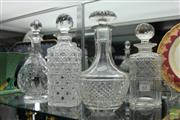 Sale 8217 - Lot 63 - Crystal & Glass Cut Decanters (4)