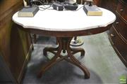 Sale 8326 - Lot 1337 - Shield Top Occasional Table w Marble