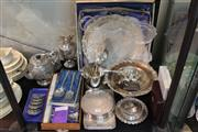 Sale 8360 - Lot 188 - Silver Plated Claret Jug with Other Plated Wares incl. Trays