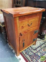 Sale 8495F - Lot 1034 - Timber Bedside Cabinet