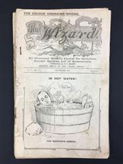 Sale 8539M - Lot 211 - The Wizard 1909-10, 9 vols. for November & December 1909, February to August 1910, & January 1912