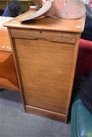 Sale 8550 - Lot 1121 - Quality Abbess Filing Cabinet with Trays and Tambour Door with key