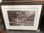 Sale 8888 - Lot 2088 - Ramon Ward Thompson (3 works) - Saturday Markets; Autumn Valley; Driftwooddecorative prints, signed
