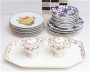 Sale 9070H - Lot 125 - A collection of assorted ceramics including Bavaria gilded fruit plates and Wedgwood.
