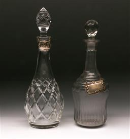 Sale 9098 - Lot 478 - Victorian whiskey decanter together with another