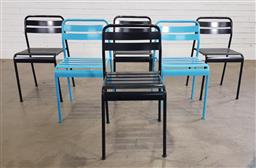 Sale 9188 - Lot 1571 - Set of six outdoor chairs (h77 x w42 x d36cm)