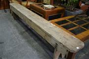 Sale 8087 - Lot 1025 - Timber Bench Seat  (230 x 45cm)